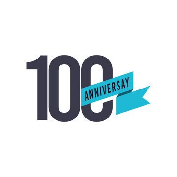 100 Years Anniversary Vector Template Design Illustration