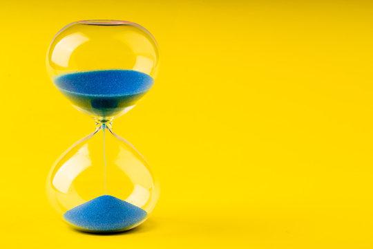 colored retro hourglass to measure time