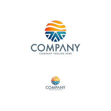 Heating and cooling industry logo