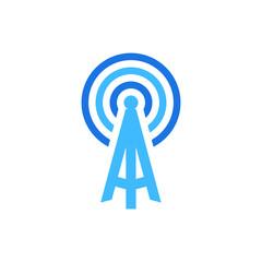 signal icon logo design concept