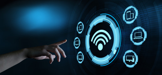 Free WiFi Network Signal Technology Internet Concept