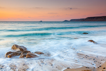 Fototapete - Sunset at Sennen Cove Penwith Cornwall England