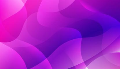 Futuristic Blue Purple Color Design Geometric Wave Shape. For Elegant Pattern Cover Book. Vector Illustration with Color Gradient.