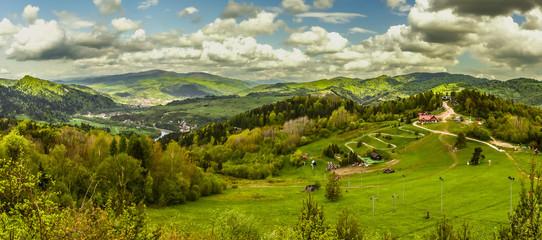 Fototapeta Palenica - Szczawnica widok szczytu, panorama obraz