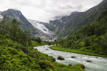 Boyabreen valley in Norway