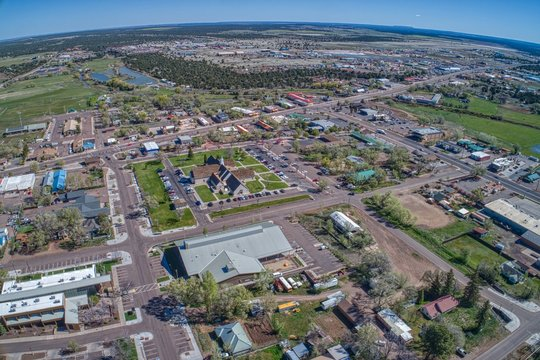 Aerial View of Show Low, Arizona in Spring