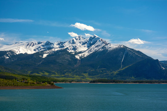 Tenmile Mountain Range and Dillon Reservoir in the Colorado Rockies