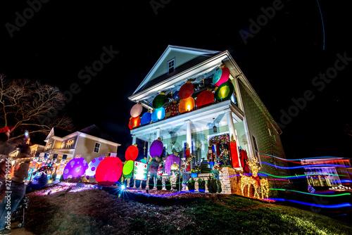 Christmas Town Usa.Outdoor Christmas Decorations At Christmas Town Usa Stock