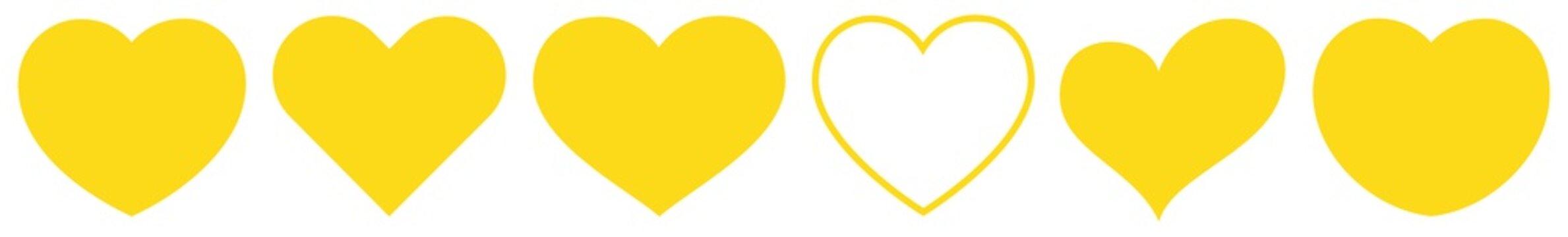 Heart Yellow   Love   Logo   Variations