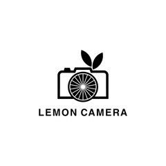 lemon camera logo design