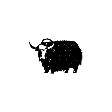 yak vintage vector logo design