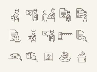 Customs post icons