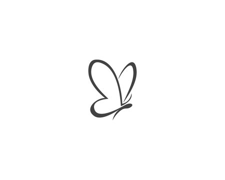 Vector - Butterfly conceptual simple icon. Logo. Vector illustration