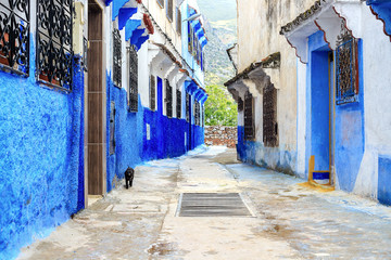 Foto op Canvas Marokko Traditional moroccan architectural details in Chefchaouen Morocco, Africa.