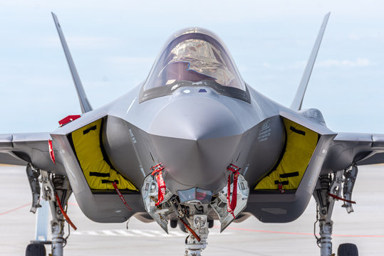Fighter Jet Head-On View