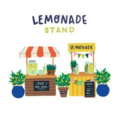Hand drawn lemonade stands