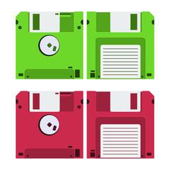 Floppy disk vector design illustration isolated on white background