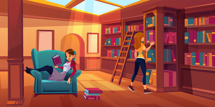 Library Cartoon Photos Royalty Free Images Graphics Vectors Videos Adobe Stock
