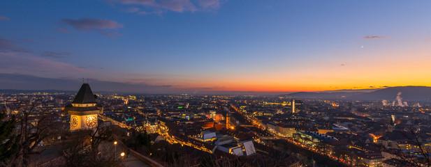 Graz bei Nacht, Österreich