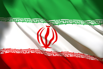 3d rendering of Iran flag