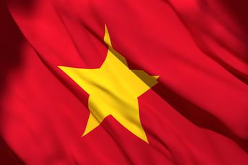 Fototapeta 3d rendering of Vietnam flag obraz