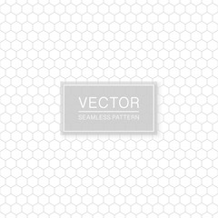 Simple seamless hexagonal pattern - geometric design. Abstract trendy background. Grid white and grey texture