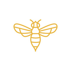 Bee logo design concept.