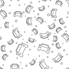 Black Car icon isolated seamless pattern on white background. Vector Illustration