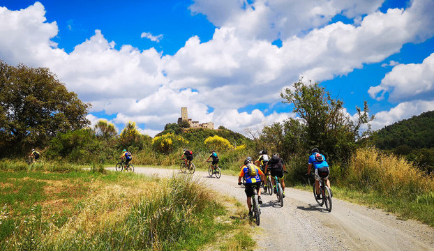 escursione guidata in mountain bike