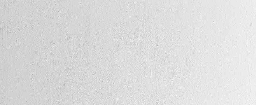 close up clean plain white color cement wall panoramic background texture for show or advertise or promote product and content on display and web design element concept