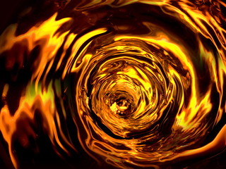 tornado whiskey in the abstract environment, eye of the right cyclone Fototapete