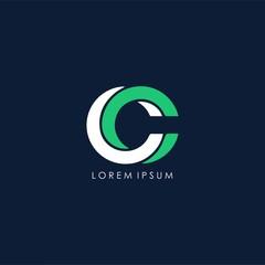 CC letter logo deisgn vector