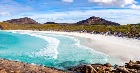 Hellfire Bay is a popular beach in the Cape Le Grand National Park, west of Esperance, Western Australia, Australia.