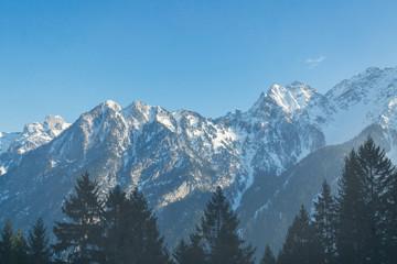 Cold winter landscape in the Austrian alps
