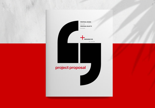 Corporate Project Proposal Layout with Red Elements
