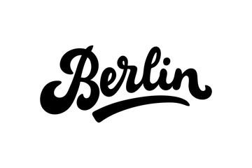 Berlin, Germany lettering vector illustration. Modern brushpen calligraphy for t-shirt, banner, poster, flyer, postcard, print, fridge magnet