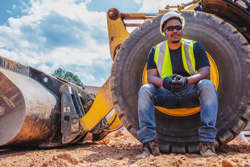 Portrait of diverse construction worker