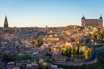 Panoramic view of Toledo, Castilla-La Mancha, Spain