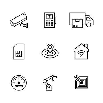 Icon Set M2M Internet of Things
