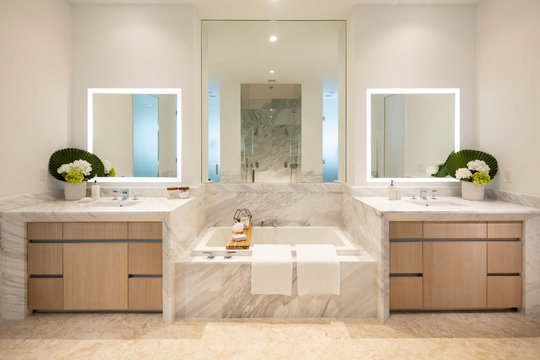 Modern Apartment Interior Bathroom in Miami Florida