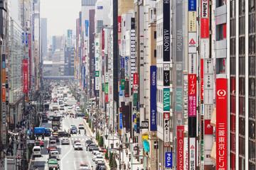 Downtown Business District in Japan