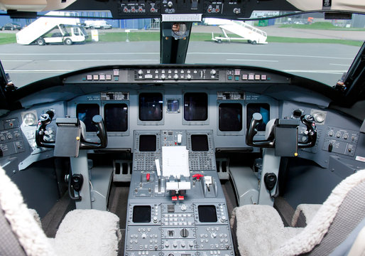Jet Airplane Cockpit