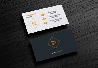 Dark and Orange Business Card Layout