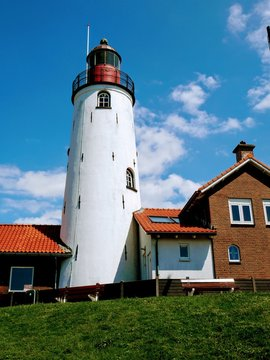 Lighthouse Urk at the IJsselmeer in the Netherlands