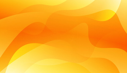 Abstract Background With Dynamic Wave Effect. Design For Cover Page, Poster, Banner Of Websites. Vector Illustration with Gold Color Gradient.