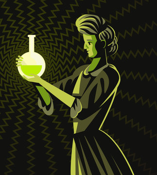 marie curie woman scientific radioactive experiment