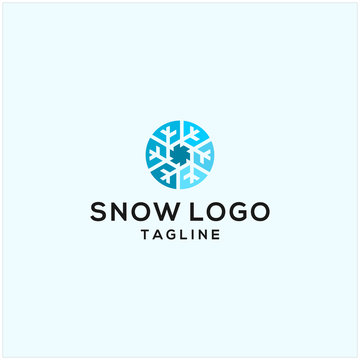 snow logo illustration vector icon