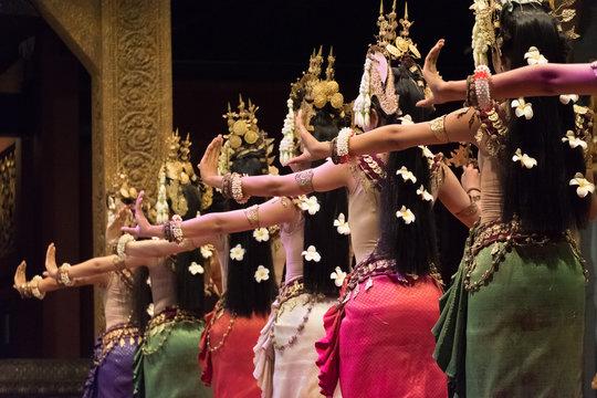 Apsara Khmer dance depicting the Ramayana epic in Siem Reap, Cambodia.