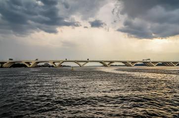 Foto op Plexiglas Inspirerende boodschap Woodrow Wilson Memorial Bridge USA
