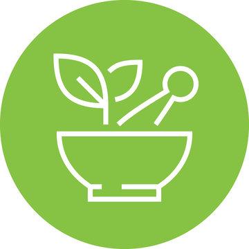 Herbal Medicine Detary Supplement Outline Icon
